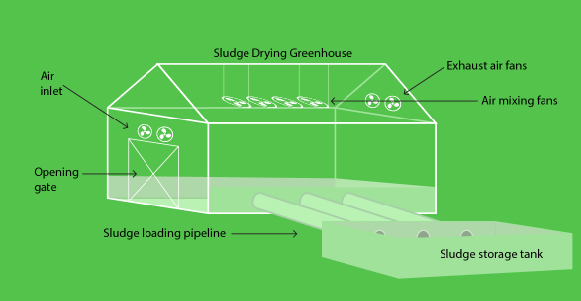 Sludge Drying Green House